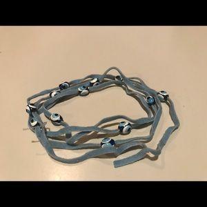 Evil Eye wrap around bracelet or necklace